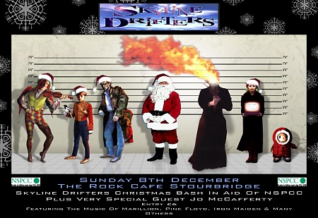 Skyline Drifters Xmas Bash - Artwork by Dazz Newitt, with kind permission from Jon Collins